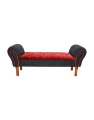 Carpet Lounge Bench Upholstered Handcrafted