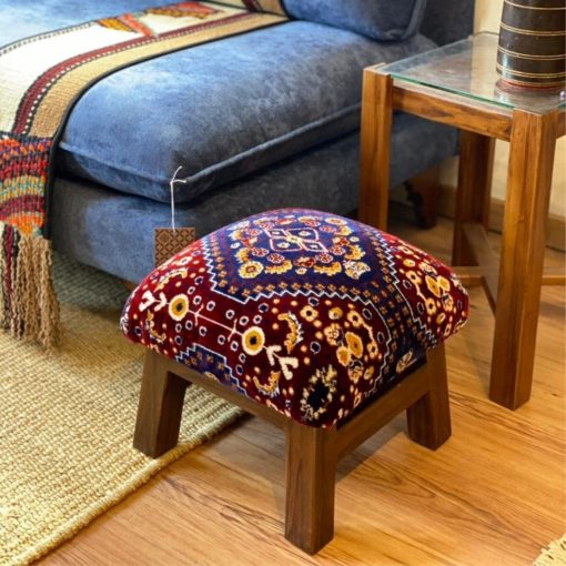 Custom Footstool Assorted Collection Upholstered