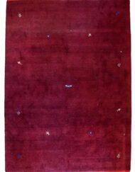 Gebba Wool On Cotton Carpet Maroon