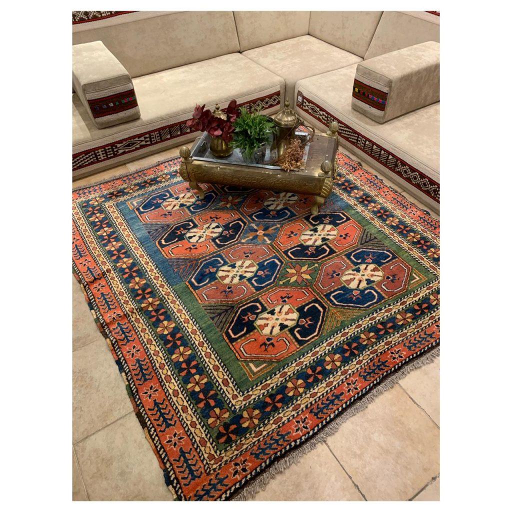 Chechen Carpet Handwoven Design