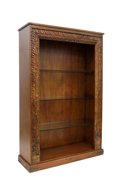 Bookcase Wooden Antique Carved