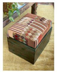 Mosaic Fabric Ottoman Seat
