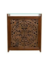 Hand Carved Wooden Cabinet