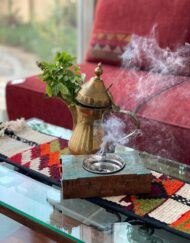 Incense Burner Carved Wood, 'Mubkhara'
