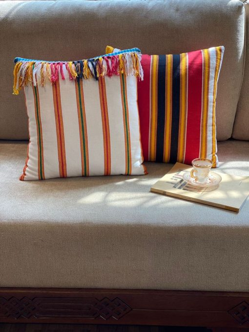 Handwoven Throw Pillow Collection Jizan Patterns