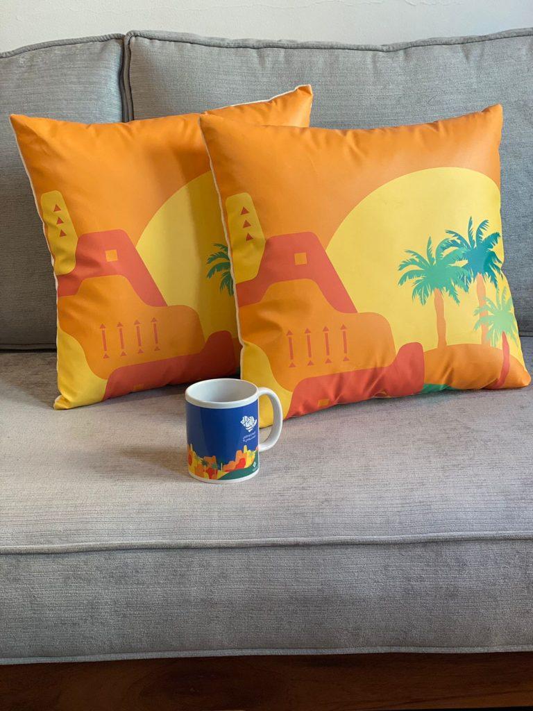 Canvas Fabric Art Pillow