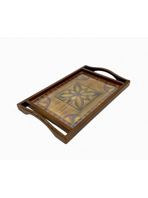 Hand Painted Wooden Tray